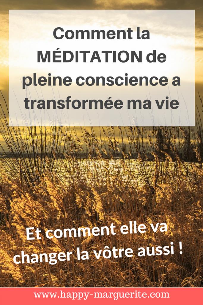 Méditation de pleine conscience bienfaits
