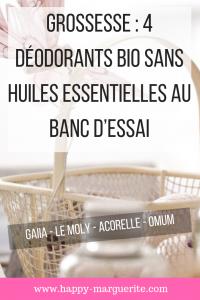 Choisir son déodorant bio pendant la grossesse
