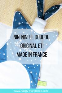 Nin-nin le doudou original et français